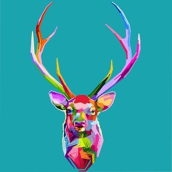 Цветная голова оленя