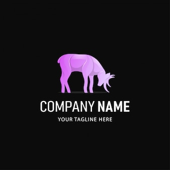 Красочный дизайн логотипа оленей. логотип градиент стиль животные