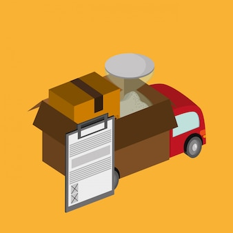 Colorful delivery  illustration