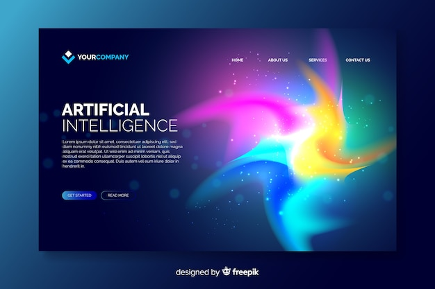 Colorful delusion abstract landing page