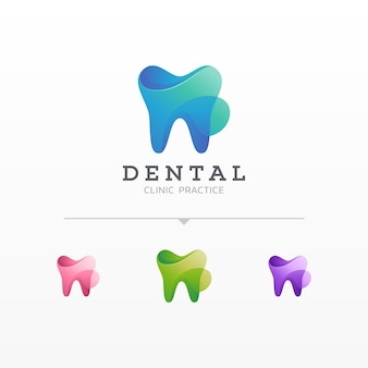 Colorful dental logo variations