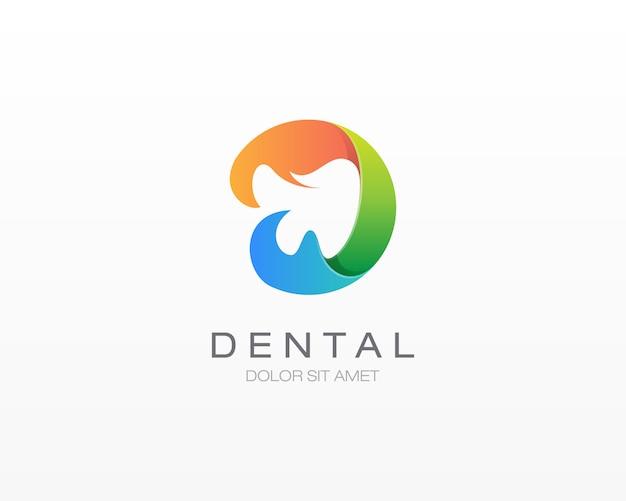 カラフルな歯科ロゴ