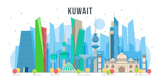 Skyline del kuwait design colorato