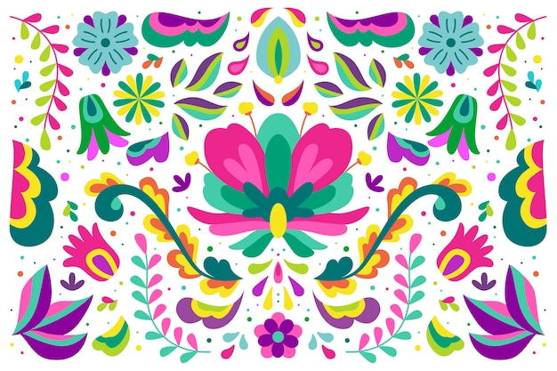 Colorful design mexican background