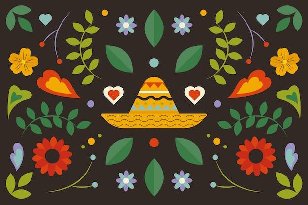 カラフルなデザインのメキシコの背景