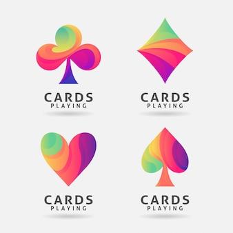 Красочный дизайн символа игральных карт