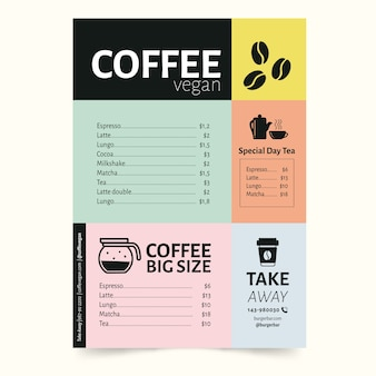 Colorful design for restaurant menu template