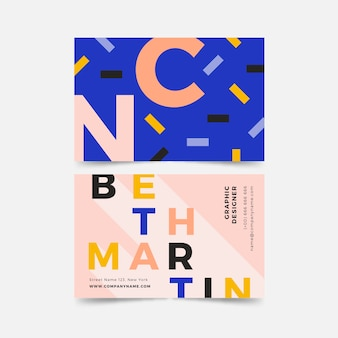 Красочный дизайнерский шаблон визитной карточки