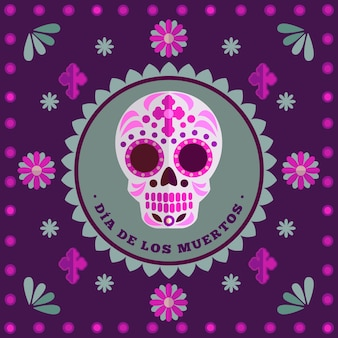 Colorful dia de los muertos background