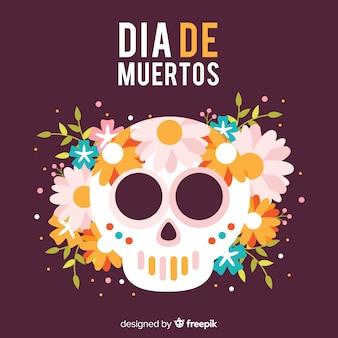Colorful dia de muertos background