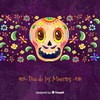 Colorful día de muertos background