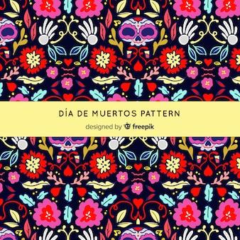 Colorful día de muertos pattern