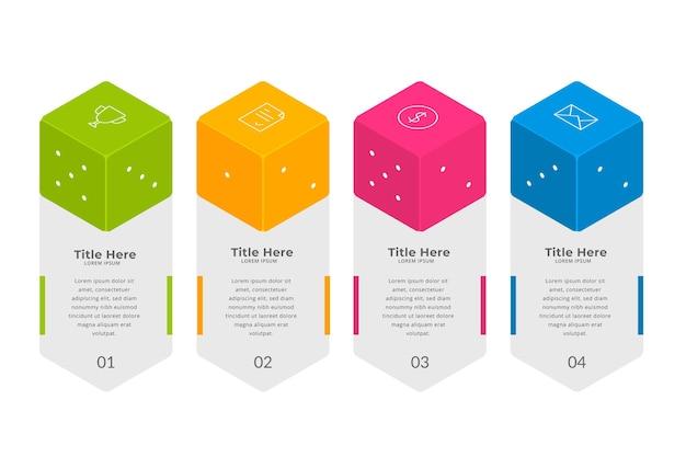 Красочные кости инфографики