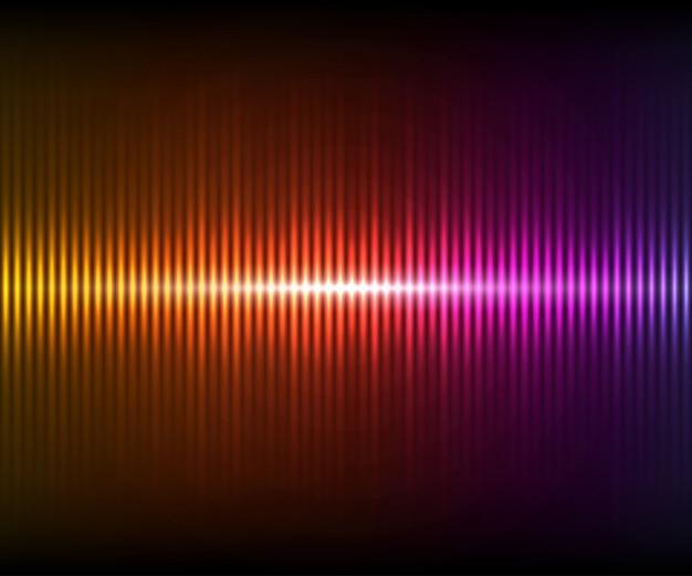 화려한 디지털 빛나는 이퀄라이저. 어두운 배경에 조명 효과와 벡터 일러스트 레이 션 프리미엄 벡터
