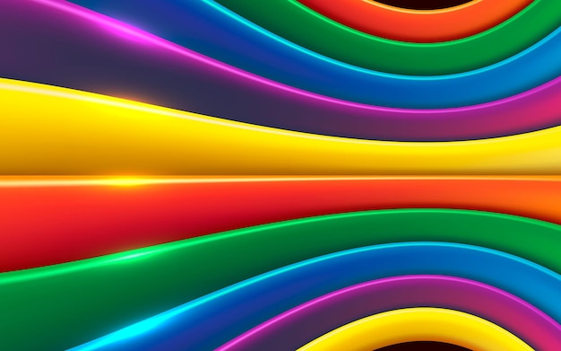 Colorful dimension layers background with sparkling light effect