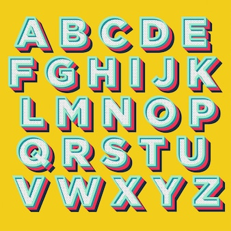 Colorful display typography