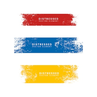 Colorful distressed banners