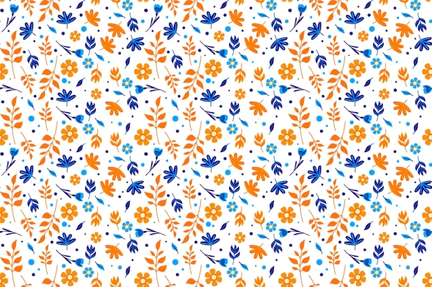 Colorful ditsy floral background
