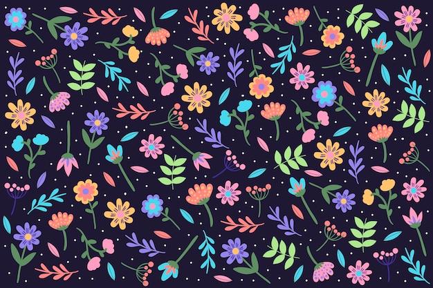 Красочный ditsy цветочный принт фон
