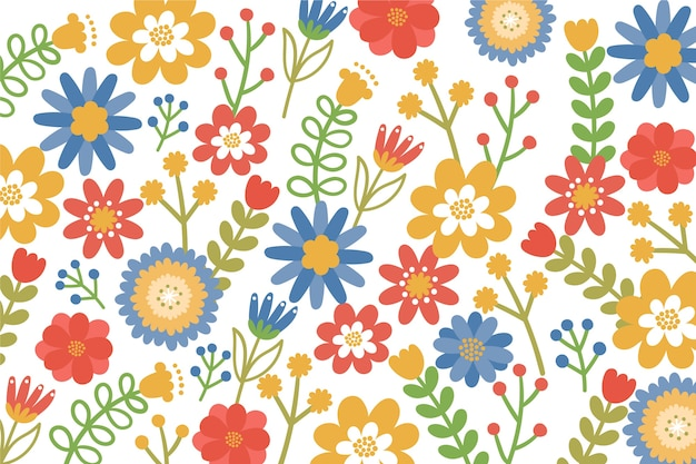 Colorful ditsy floral print background