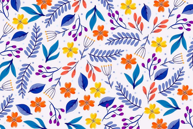 Colorful ditsy floral screensaver