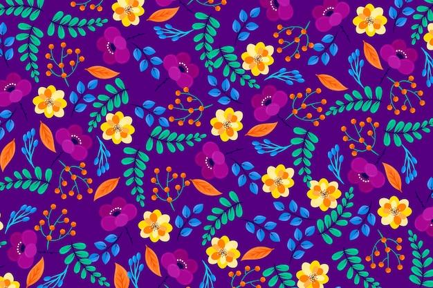 Разноцветные ditsy цветочные обои