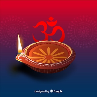Colorful diwali background with realistic design