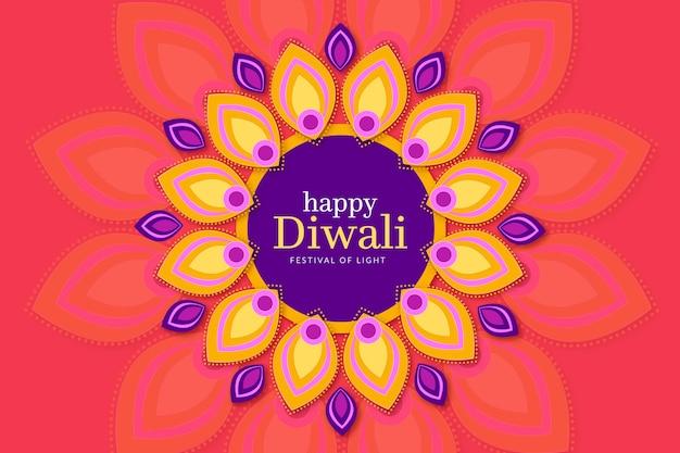Colorful diwali event flat design
