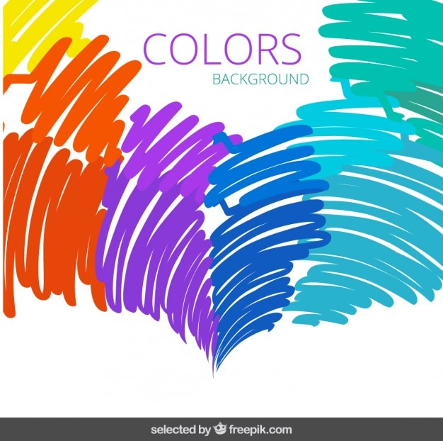 Colorful doodling background