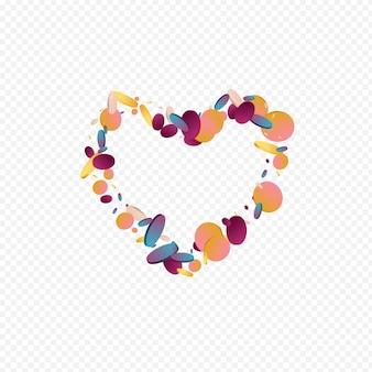 다채로운 도트 초대 투명 배경입니다. 홀로그램 독립 폴카 그림입니다. 벡터 카드입니다. 그라데이션 카니발 배경 화면.