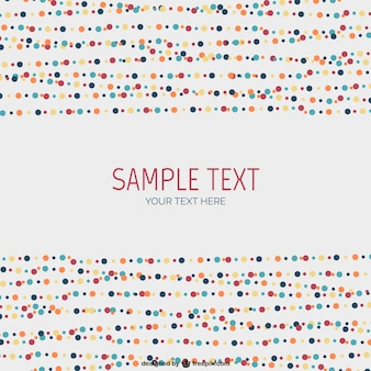 Colorful dots template