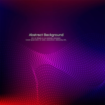 Colorful dotted wave technology background