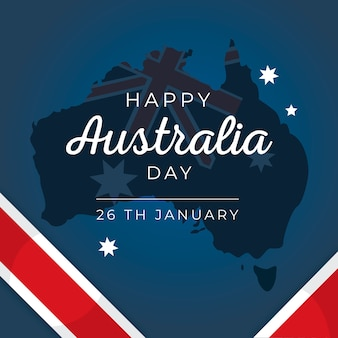 Colorful draw for australia day