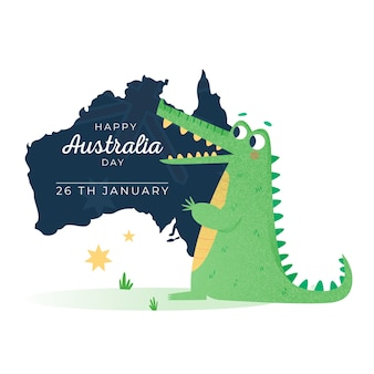 Colorful drawing for australia day