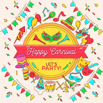 Colorful drawing of carnival
