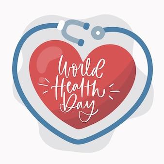 Красочный рисунок всемирного дня здоровья