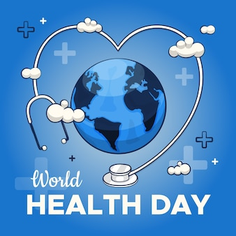Colorful drawing of world health day