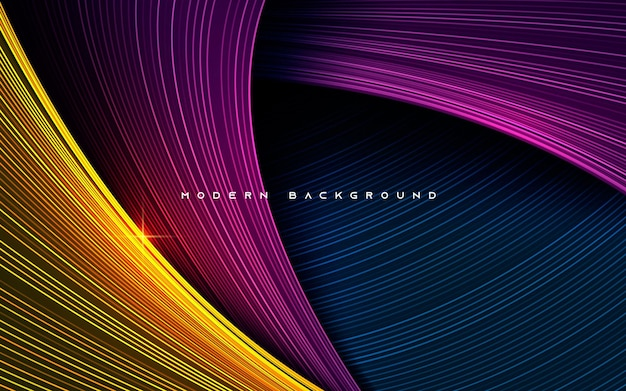 Colorful dynamic dimension layers line effect background