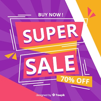 Colorful dynamic sales background flat design