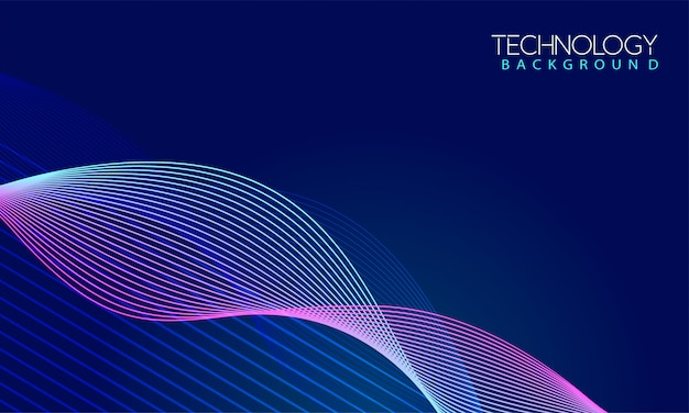 Colorful dynamic wave background