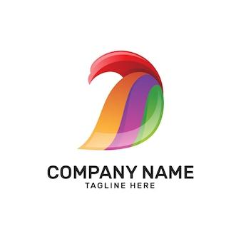 Colorful eagle bird wing logo
