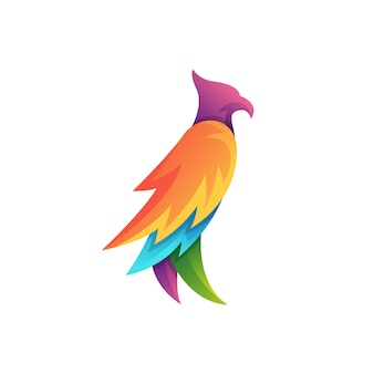 Colorful eagle character