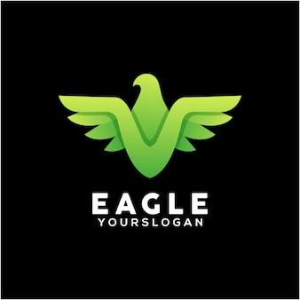 다채로운 독수리 로고 디자인 서식 파일