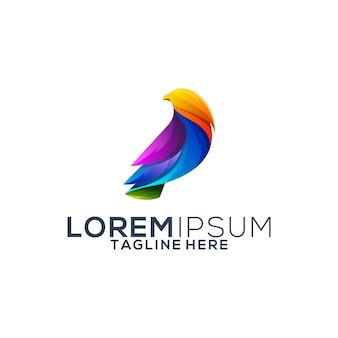Colorful eagle logo design