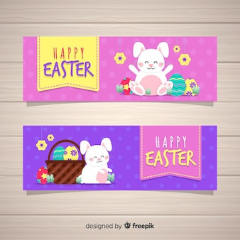 Colorful easter day banner