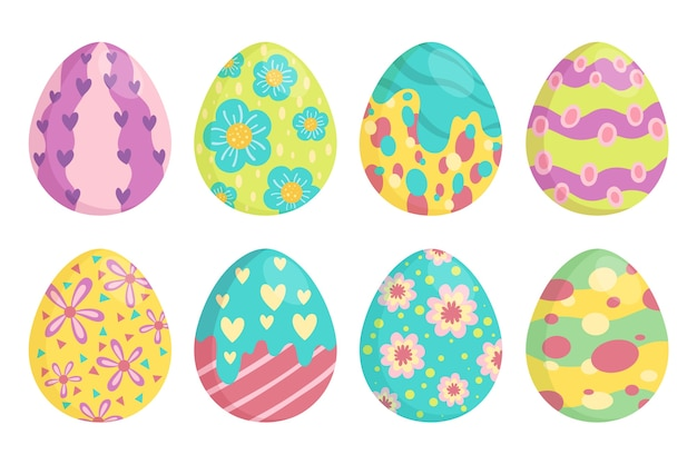 Raccolta variopinta dell'uovo di giorno di pasqua