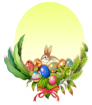 A colorful easter-designed border