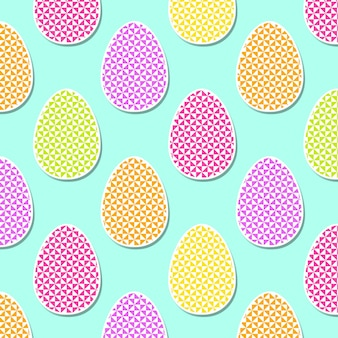 Colorful easter egg pattern with geometric shape illustration for holiday background. creative and fashion style card