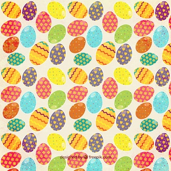 Colorful easter eggs pattern