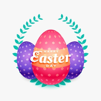 Colorful easter eggs realistic background